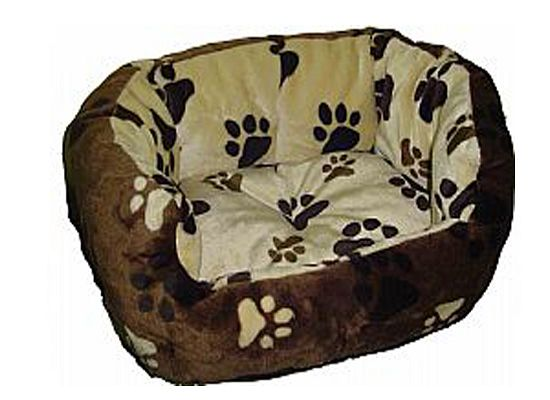 Kρεβάτι καφέμπέζ με σχέδιο πατούσες
