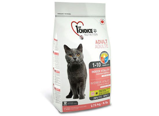 1St Choice Adult 1+ Years, Indoor Vitality, Chicken Formula