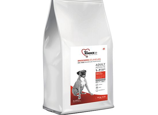 1St Choice BREEDER. Sensitive skin & coat Lamb & Fish formula 20kg