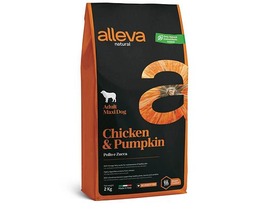 Alleva NATURAL CHICKEN & PUMPKIN ADULT MAXI DOG