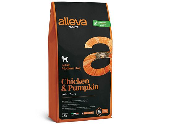 Alleva NATURAL CHICKEN & PUMPKIN ADULT MEDIUM DOG