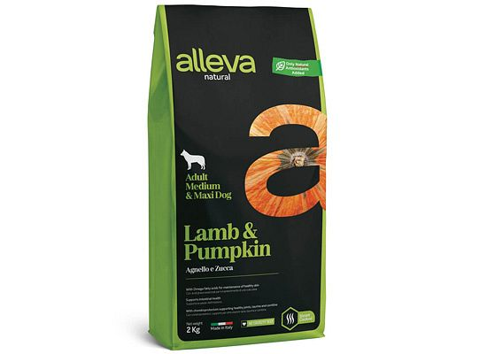 Alleva NATURAL LAMB & PUMPKIN ADULT MEDIUM – MAXI DOG