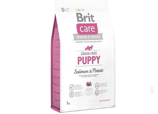 BRIT CARE Junior large breed Grain free salmon formula