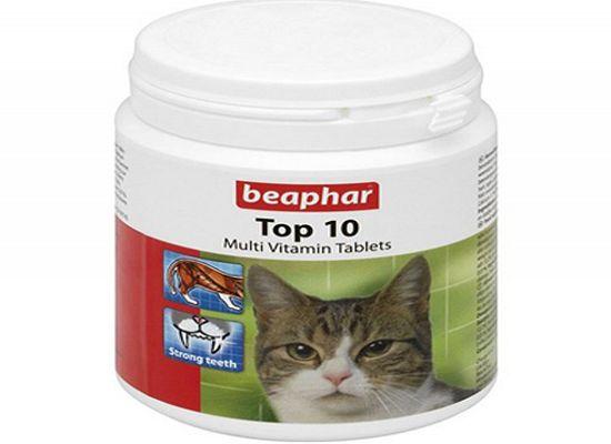 Beaphar Top 10 Cat – Πολυβιταμίνες σε ταμπλέτες για γάτες 180Tabs