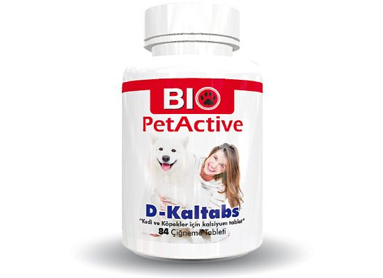 Bio petactive D-Kaltabs. Calcium Tablet for Cats and Dogs