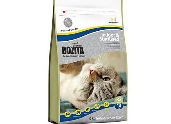 Bozita Feline Indoor & Sterilized με κοτόπουλο.