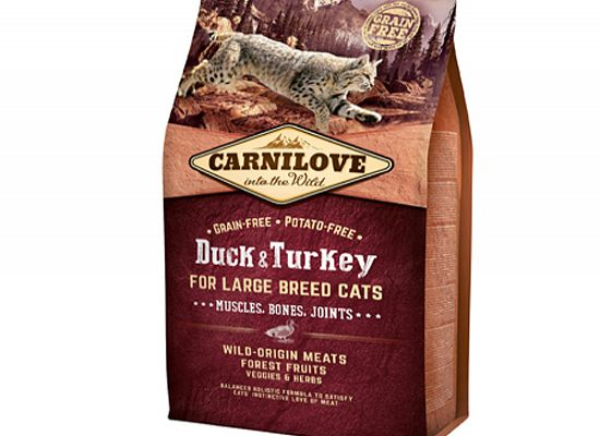 Brit Carnilove Cat Grain Free – Adult Duck & Turkey Large breeds