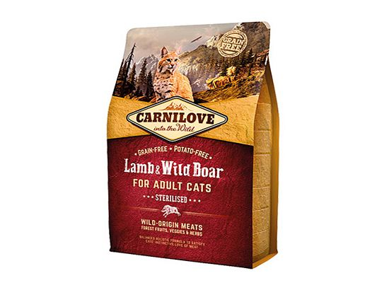 Brit Carnilove Cat Grain Free – Lamb & Wild Boar. Sterilised
