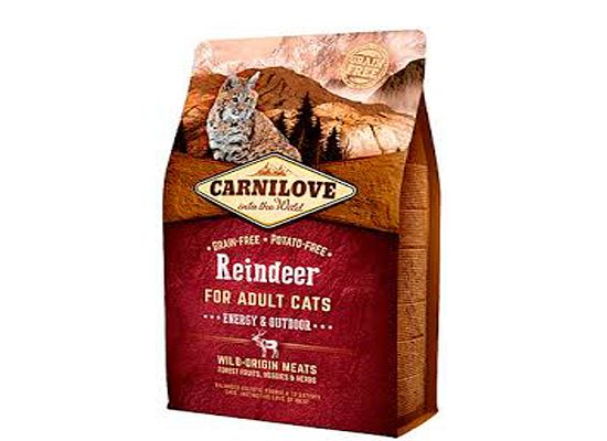 Brit Carnilove Cat Grain Free Adult Reindeer – Energy Outdoor