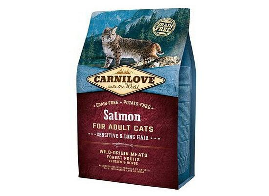 Brit Carnilove Cat Grain Free Salmon – Sensitive Long Hair