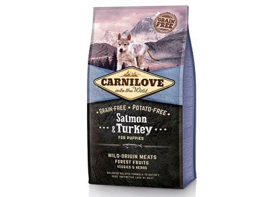 Brit Carnilove Salmon & Turkey – Puppy – Grain Free