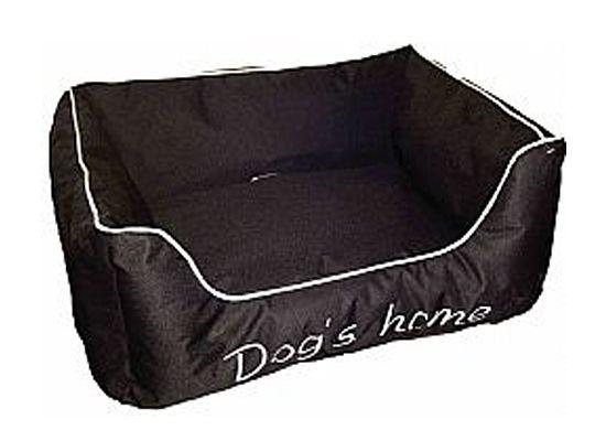 Cross Kρεβάτι poly μαύρο Dog home.