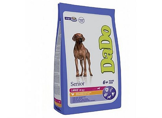 Dado Senior, 6+ Years – Large Breeds – Chicken & Rice Formula