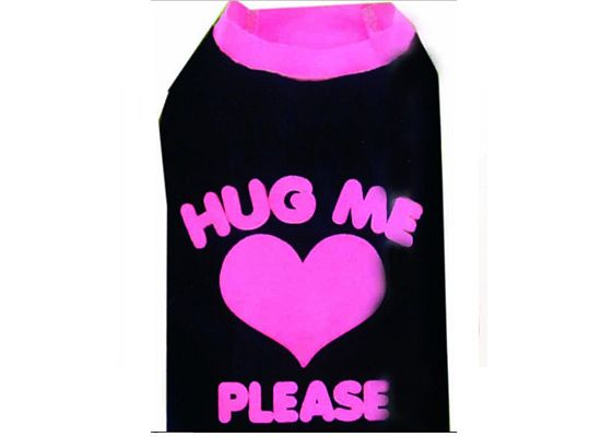 Doggy Dolly T-Shirt Hug me Black