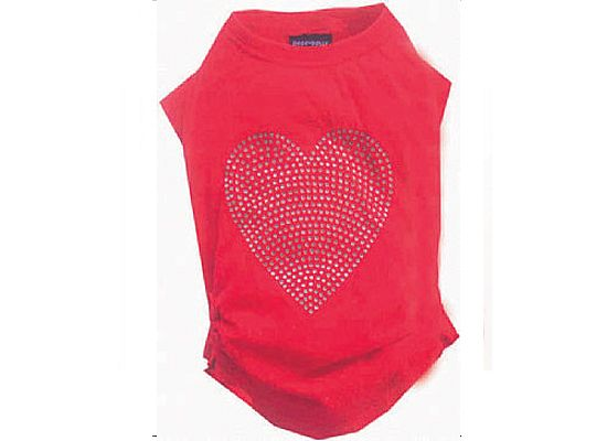 Doggy Dolly T-Shirt Red Heart