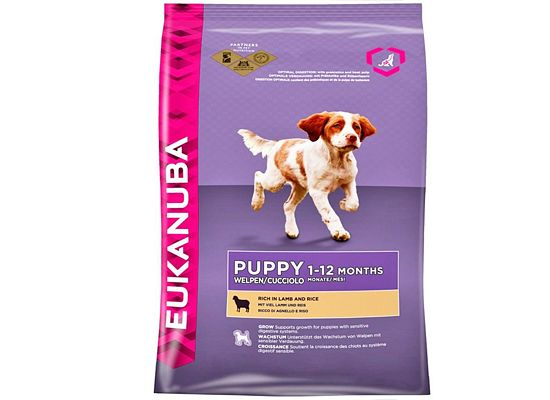Eukanuba Puppy All Breeds. Rich In Lamb & Rice