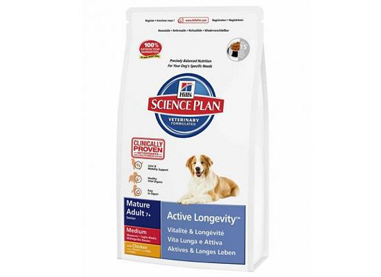 Hills Science Plan Canine Mature Adult 7+ Active Longevity Medium