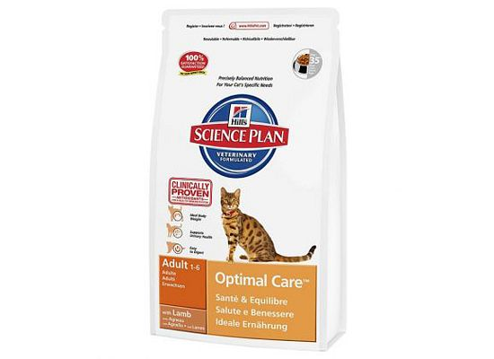 Hills Science Plan Feline Adult Optimal Care με Αρνί