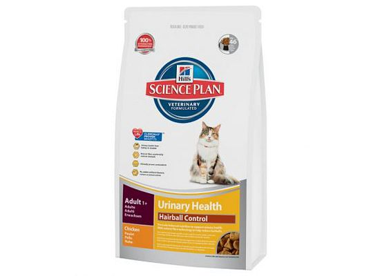 Hills Science Plan Feline Adult Urinary Health Hairball Control