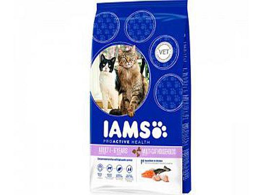 Iams Adult Multi-Cat – Με σολομό και κοτόπουλο
