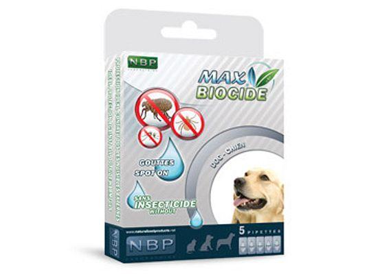 Max Biocide Αντιπαρασιτικές Αμπούλες Σκύλου