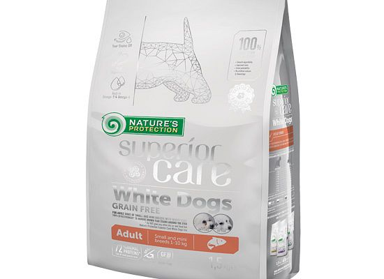 Nature's Protection SUPERIOR CARE WHITE DOGS GRAIN FREE SALMON