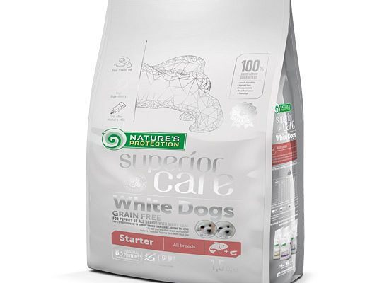 Nature's Protection SUPERIOR CARE WHITE DOGS GRAIN FREE STARTER