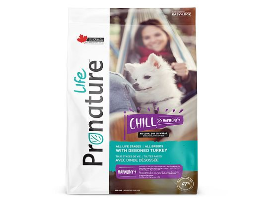 Pronature CHILL HARMONY All Breeds With Fresh Turkey.