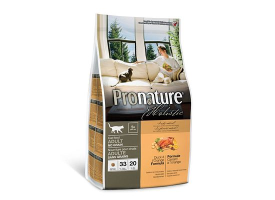Pronature Holistic Adult 1+ Years, Grain Free, Duck & Orange Formula