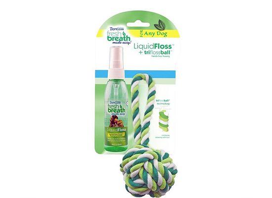 Tropiclean Tropiclean Liquidfloss & Rope Ball