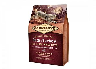 Carnilove Cat Grain Free - Adult Duck & Turkey Large breeds